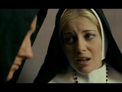Confessions of a Sinful Nun - naturally bust babe screwed outdoors in retro movie
