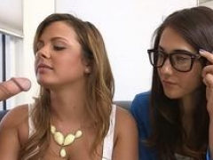 clothed babes give a head zone vid 2