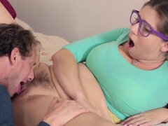 Buxom darling will need to play some sexual games with her stepdaddy