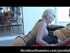 light-haired mother with huge boobs fucked