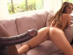 BBC pounds the asshole of lascivious chick Aleska Diamond