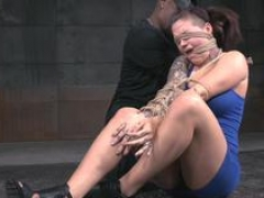 Submissive Eager mom teased by black maledom