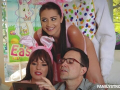 Young beauty gets fucked by her uncle in bunny costume