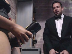 Waitress Jenna J Foxx seducing maitre d' Johnny Castle