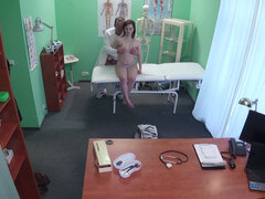Sexy girl having hot sex all over doc's office