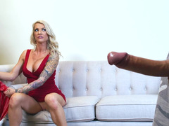 Blonde mom i`d like to fuck that loves rectal is handling a large and hard soggy phallus