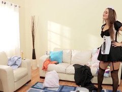 Dani Daniels is a dirty French maid that loves a big cum cannon