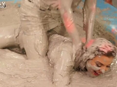 Messy Wrestling: Hittin' It Hard In The Mud - No Stopping Till There's Not A Dry Spot Left!