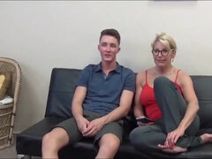 mommy and son handjob - family sex