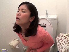 japanese Caught draining in the Public restroom 1