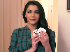 Valentina Nappi is playing a sexy poker