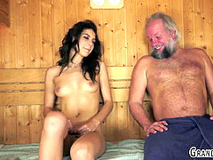 nubile gobbled by gramps