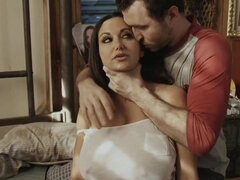 Ava Addams Choked and Fucked Rough - mom pornstar with giant monster boobs