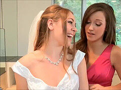 lezzie four way with a splendid Bride and her Maids
