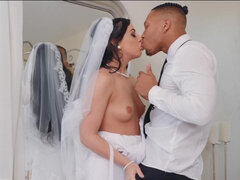 Bride Whitney Wright wants to be filled with cock and cum before being taken away on a blissful honeymoon