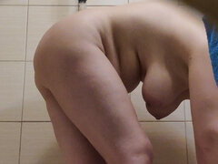 Hidden camera - busty mature in shower