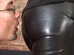 Bunny slave choked during facesitting & crop spanked all over
