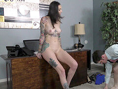 Tall gorgeous Office hellion - Rocky Emerson - female dom