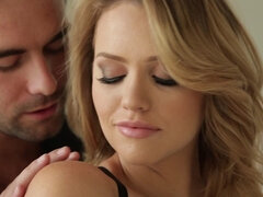 elegant couple in bed action - mia malkova