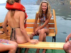 Nude teens on Boat utter video # 1 better Quali