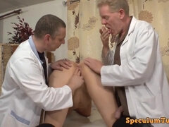 Two horny doctors and amoral old whore