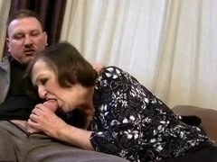 Ugly granny having nasty sex