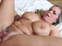 Pawg Amber Lynn Bach blows & is rough fucked by her son-in-law
