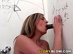 Brooklyn pleases bbc With Her facehole - Gloryhole