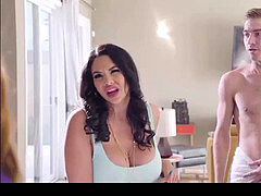 mummy fucks stud in douche by Brazzers