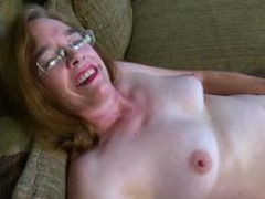 Shaggy granny prefers teasing in front of webcam nude and commences playing with her favorite dildo