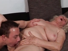 Aroused Granny with young and fresh Boy