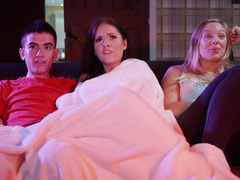 A hot sister does not mind sharing her boyfriend with her sister