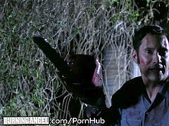 Joanna Angel and Evil Dead honeys smash the Hell Out Of Tommy's bone