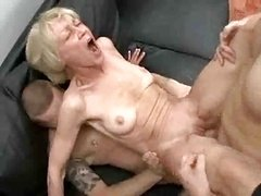 Wholly Lustful Granny Loves To Take Young Cum cannons And Jizz !