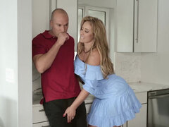 Curvy slut Eva Notty fucking her well hung neighbor all over the house