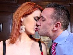Siri the huge breasted secretary redhead bangs her boss