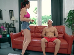 Oily massage after workout ends into a fuck fest for Skyla Novea