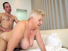 Plump granny necessary some vernal meat and found appropriate man