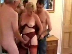 Old Swinger trio in a hotel