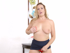 A eager mom with a magnificent body is getting her shaggy cunt rammed