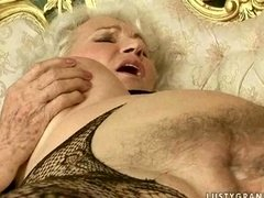 Granny & youthful beauty have hot sex