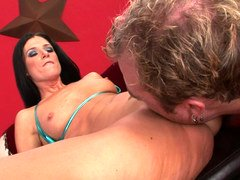 Bikini whore India Summer fucked until she squirts