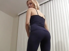 Let me finish my yoga and besides then I will help you cum JOI