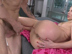 Juicy tight blonde is amazingly passionate while having hardcore fuck