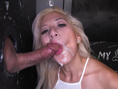 Cum crazed whore is open for business and additionally she simply loves her job