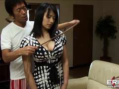 Thick knockers Japanese woman next door Hanna bound and titty bitchy
