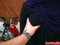 Arab gal throathed and fucked balls deep