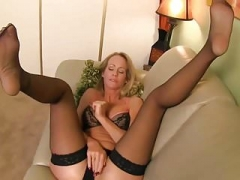 Hot Mom i`d like to fuck Lady Simone In Stockings Joi #MrBrain1988