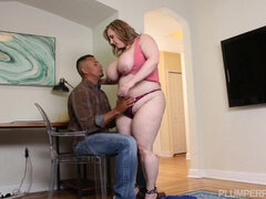 BBW Lexi Belle loves BBC - interracial hardcore with cumshot