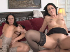 Mommy invites herself to join the couple in a 3some